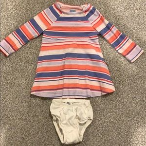 GAP long sleeve Stripe dress: 18-24 mths